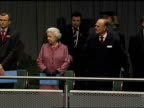 Queen attends celebration for the reopening of newly refurbished St Pancras Station Queen Elizabeth and Prince Philip along to seats as stand for the...