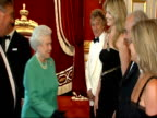 Queen attends event marking merger of the RNIB and the NLB Event scenes ENGLAND London St James' Palace INT Singer Rod Stewart and his fiancee Penny...