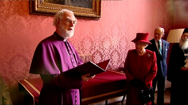 Queen attends multifaith reception at Lambeth Palace Dr Rowan Williams speech SOT we are delighted to welcome you here our warmest congratulations to...
