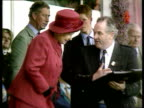 Queen condemns Diana book LIB Braemar MS Queen Prince Charles at highland games with Prince Harry behind PULL