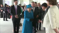 Queen Elizabeth accompanied by Prince Phillip officially opens London Heathrow Terminal 2 her Majesty meets with officials and celebrities as she...