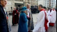 Queen Elizabeth and Duke of Edinburgh attend annual Commonwealth Day Observance Ceremony Queen Elizabeth and Dr John Hall speaking to guests Queen...