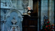 Queen Elizabeth attends Commonwealth Day of Observance service at Westminster Abbey Annie Lennox addressing service from pulpit