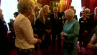 Queen Elizabeth attends 'Leonard Cheshire Disability' reception at St James's Palace Queen Elizabeth chatting with TV presenter Esther Rantzen...