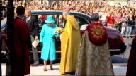 Queen Elizabeth attends Maundy Service at Westminster Abbey ENGLAND London Westminster THROUGHOUT** Car with Queen Elizabeth II arriving at...
