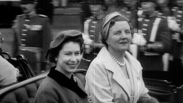 Queen Elizabeth becomes the first British reigning monarch to visit the Netherlands / the royal yacht Britannia entering Amsterdam harbor / Queen...