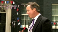 David Cameron interview ENGLAND London Downing Street EXT David Cameron MP interview SOT Shows strong relationship Best of Britain Whole country came...