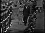 Queen Elizabeth II and President Dwight D Eisenhower inspect guards Balmoral 28 Aug 59