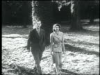 Queen Elizabeth II and Prince Philip Duke of Edinburgh enjoying a walk during their honeymoon at Broadlands Romsey Hampshire Queen Elizabeth II and...