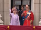 Queen Elizabeth II and the Duke of Edinburgh on the balcony at Buckingham Palace on the occasion of his 90th birthday