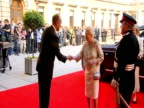 Queen Elizabeth II arrives at a party for the Diamond Jubilee
