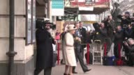 Queen Elizabeth II attends her first public engagement for more than a week on Wednesday when she joined Prince William wife Catherine on a visit to...