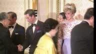 Queen Elizabeth II becomes longest reigning monarch LIB / TX Seoul INT Various shots Prince Charles Prince of Wales and Diana Princess of Wales...