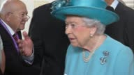 Queen Elizabeth II marks 100th anniversary of bombing of school during World War 1 Queen meeting local religious leaders and local people Queen...
