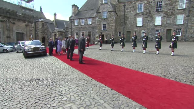 Queen Elizabeth II visits Stirling Castle / Queen meeting with Justin Trudeau SCOTLAND Stirling Castle / Holyrood Palace THROUGHOUT*** Queen...