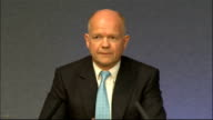 Queen Elizabeth visit Day 1 William Hague and Eamon Gilmore press conference William Hague MP press conference SOT The spirit of the relationship of...