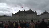 Queen Margrethe II of Denmark and the Danish royal family appear before the public on the balcony of Amalienborg Palace as she celebrates her 75th...