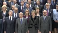 Queen Mathilde and King Philippe of Belgium European Commission President JeanClaude Juncker Belgian Prime Minister Charles Michel French Prime...
