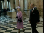 U'LAY ENGLAND London St Pauls Cathedral Queen Elizabeth II along with Prince Philip the Duke of Edinburgh as arriving for service MS Ken Livingstone...