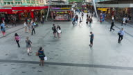 TIME LAPSE: Queen Street in Brisbane from above