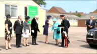 Queen unveils memorial to Bletchley Park codebreakers arrival ENGLAND Milton Keynes Bletchley Park EXT Royal helicopter coming in to land over...