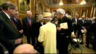 Queen visits Houses of Parliament to celebrate her Diamond Jubilee Various of Queen Elizabeth introduced to and chatting with unidentified MPs/ Queen...