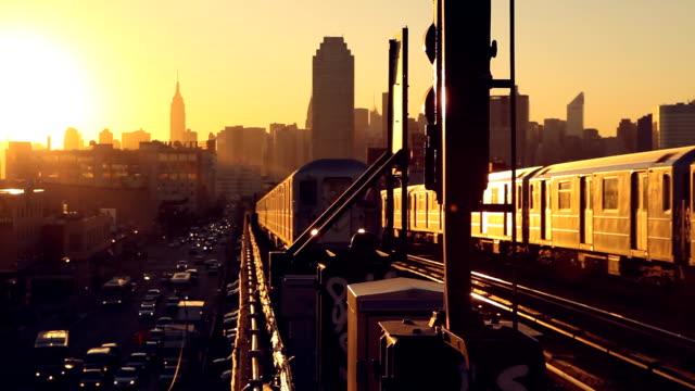 Queens Sonnenuntergang U-Bahn