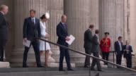 Queen's 90th birthday Service of National Thanksgiving held St Paul's Cathedral departures ENGLAND London St Paul's Cathedral EXT Queen Elizabeth II...