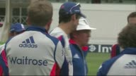 Queen's Birthday Honours recipients announced 482015 / R04081513 West Bridgford Alastair Cook at trainign session Stuart Broad at training session