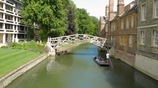 Queens Bridge, Mathematical Bridge,Cambridge,Punt