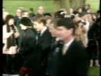 Queen's Christmas message/ Carey/ Pope 1240 Norfolk Sandringham LMS Prince Philip Princess Anne leading royals towards Prince Charles Prince Edward...