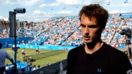 Queen's Club Andy Murray interview SOT Confidence the win will give him going into Wimbledon