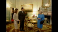 Queen's Diamond Jubilee Queen's role as Head of the Commonwealth R17120201 / Bashar alAssad and wife Asma alAssad shaking hands with Queen and...