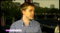Queen's Diamond Jubilee Southampton cruise ships and fireworks ENGLAND London Buckingham Palace INT Owen Jones LIVE interview SOT Diran Adebayo LIVE...