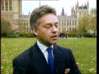 Queen's flight to be privatised London Westminster Alan Duncan MP interview SOT Its a disgrace that we learn about this thru newspaper advertisement/...