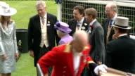Queen's horse 'Estimate' wins Gold Cup Queen meets jockey Ryan Moore ENGLAND Berkshire Ascot EXT Horsedrawn carriage carrying Queen Elizabeth II...