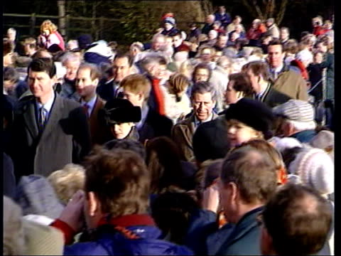 Queen's message Royals at Sandringham b1645 NICHOLAS Norfolk Sandringham EXT Princess Anne and the Duke of Edinburgh leading members of the Royal...