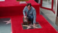 CLEAN Quentin Tarantino Honored with Star on the Hollywood Walk of Fame at Hollywood Walk Of Fame on December 21 2015 in Hollywood California