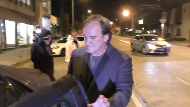 Quentin Tarantino outside Craig's Restaurant in West Hollywood in Celebrity Sightings in Los Angeles
