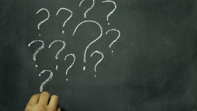Question mark chalkboard writing
