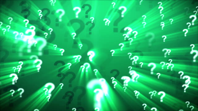 Question Marks Green