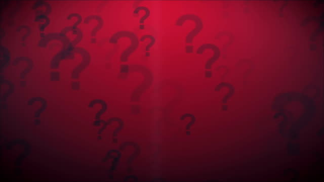 Question Marks Red