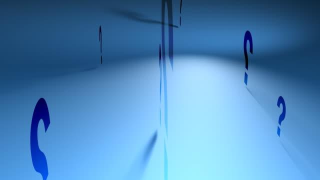 Question Marks (Blue Spinning Backgorund)