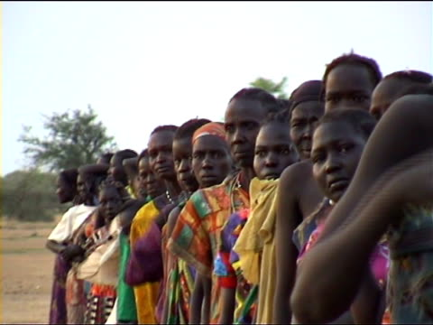 queue for aid. Southern Sudan