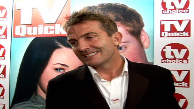 soapstar interviews Bradley Walsh interview SOT On winning award / On leaving Coronation Street / On doing a five o'clock talk show in the same slot...