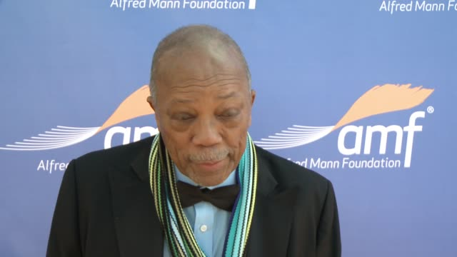 INTERVIEW Quincy Jones on the event why he makes time for charity events at Alfred Mann Foundation's An Evening Under the Stars with Andrea Bocelli...