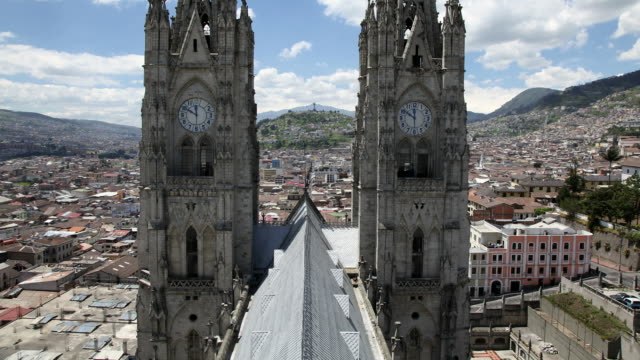 Quito cathedral timelapse. Ecuador