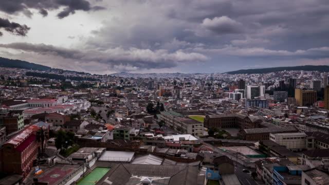 quito ecuador city timelapse