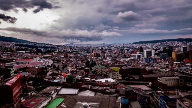 quito ecuador ciudad timelapse