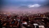quito ecuador ciudad timelapse virgen del panecillo